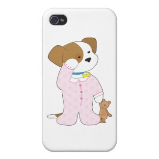 Cute Puppy Pajamas iPhone 4/4S Covers