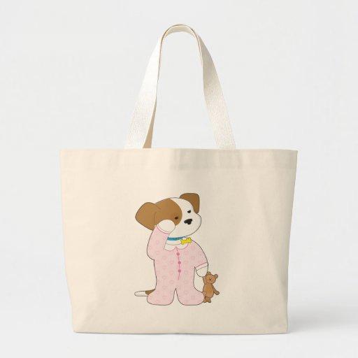 Cute Puppy Pajamas Jumbo Tote Bag