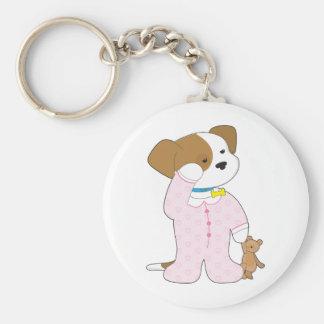 Cute Puppy Pajamas Key Chain