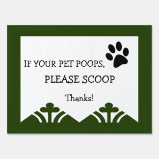 Cute Puppy Paw Cleanup Sign