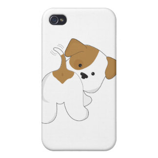 Cute Puppy Rear View Cover For iPhone 4