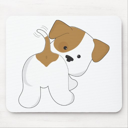 Cute Puppy Rear View Mouse Pad