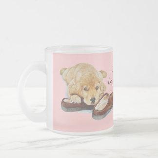 cute puppy retriever missing you dog art mug