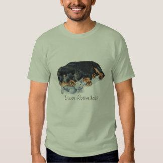 cute puppy rottweiler teddy bear slogan design T-Shirt