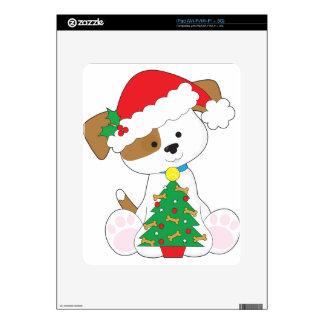 Cute Puppy Santa Decal For The iPad