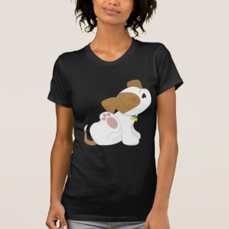 Cute Puppy Scratching T-Shirt