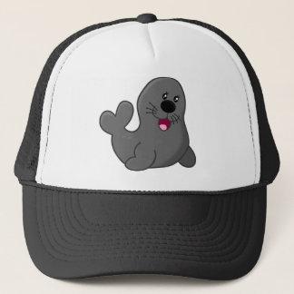 Cute puppy seal trucker hat