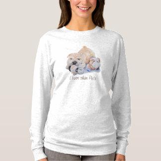cute puppy shar pei dog love slogan art design T-Shirt