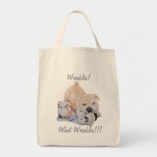 Cute puppy shar pei teddy bears fun slogan tote bag