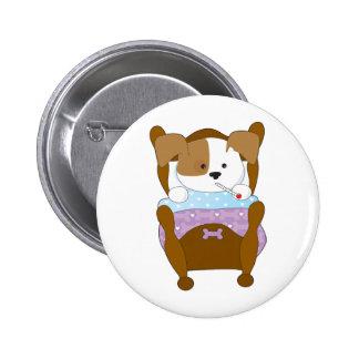 Cute Puppy Sick Button