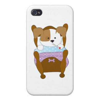 Cute Puppy Sick iPhone 4/4S Covers