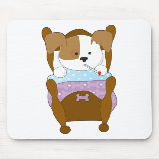 Cute Puppy Sick Mouse Pad