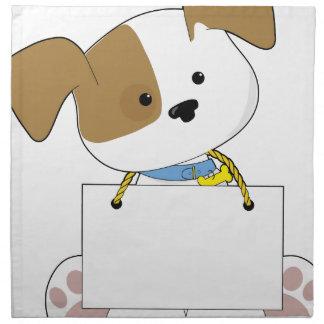 Cute Puppy Sign Napkin