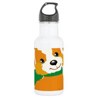 Cute puppy sitting in a box lid 18oz water bottle