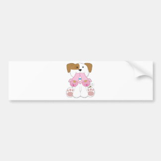 Cute Puppy Slippers Bumper Sticker