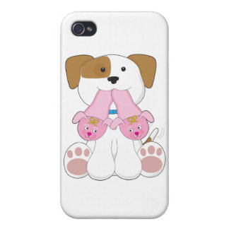 Cute Puppy Slippers iPhone 4 Covers