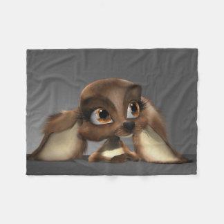 Cute Puppy Small Fleece Blanket