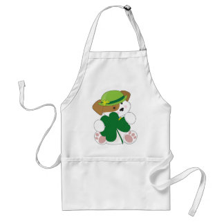 Cute Puppy St Pats Adult Apron