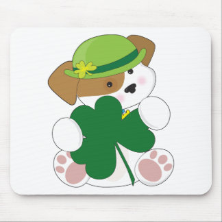 Cute Puppy St Pats Mouse Pad