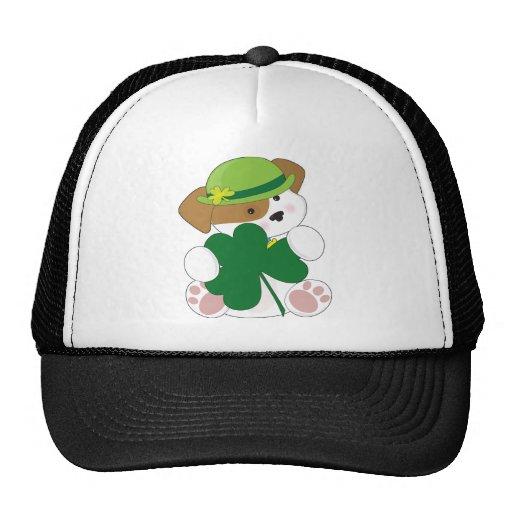 Cute Puppy St Pats Trucker Hats