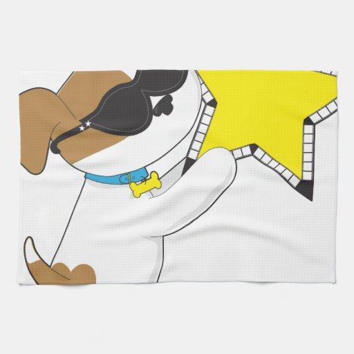 Cute Puppy Star Hand Towel