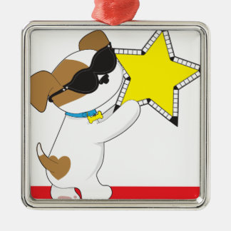 Cute Puppy Star Christmas Tree Ornament