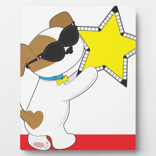 Cute Puppy Star Photo Plaques