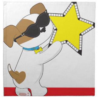 Cute Puppy Star Printed Napkin