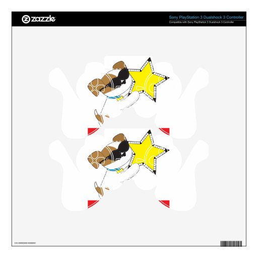Cute Puppy Star Skin For PS3 Controller