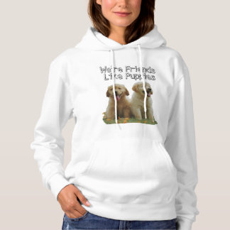 Cute puppy, sweatshirt,we are friends like puppies hoodie