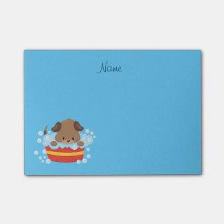 Cute Puppy taking a bath Post-it® Notes