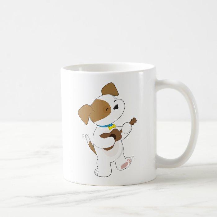 Cute Puppy Ukulele Coffee Mug