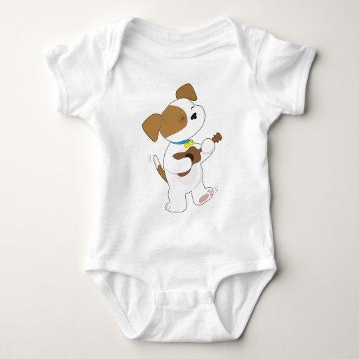 Cute Puppy Ukulele T Shirt