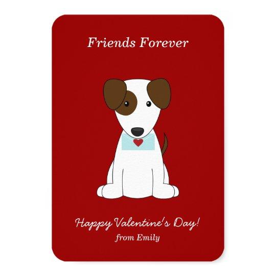 Cute Puppy Valentines Card