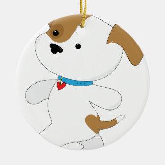Cute Puppy Walker Ceramic Ornament