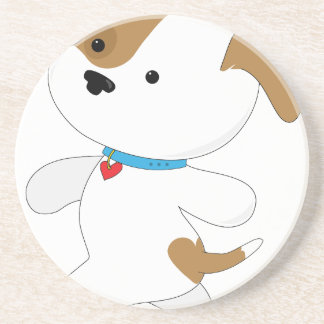 Cute Puppy Walker Sandstone Coaster