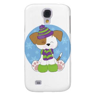 Cute Puppy Winter Samsung S4 Case