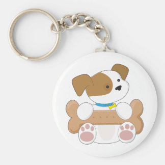 Cute Puppy With a Snack Key Chains