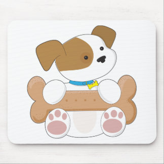 Cute Puppy With a Snack Mouse Pad