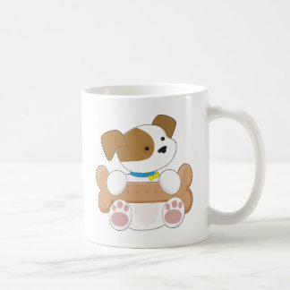 Cute Puppy With a Snack Classic White Coffee Mug