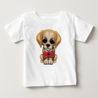 Cute Puppy with Albanian Flag Pet Tag Infant T-shirt