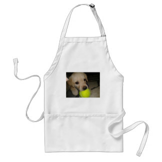 Cute Puppy With Ball Aprons