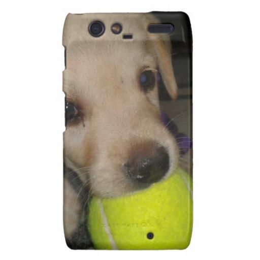 Cute Puppy With Ball Motorola Droid RAZR Cases