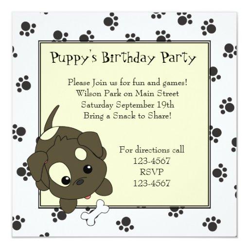 Cute Puppy with Bone Card