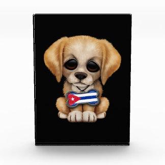 Cute Puppy with Cuban Flag Pet Tag black Award