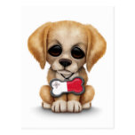 Cute Puppy with Maltese Flag Dog Tag, white Postcard