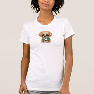 Cute Puppy with Nigerian Flag Pet Tag T-Shirt