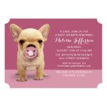 Cute Puppy with Pacifier Baby Shower Invitation