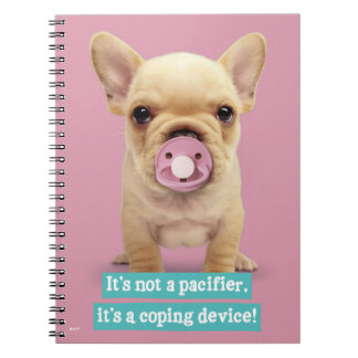 Cute Puppy with Pacifier Notebook