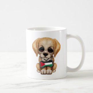 Cute Puppy with Palestinian Flag Dog Tag Coffee Mugs